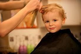 boy getting a haircut