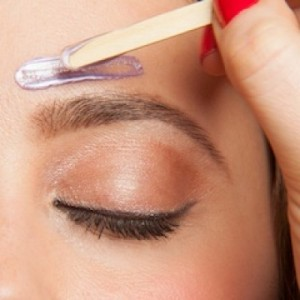 female eyebrow waxing