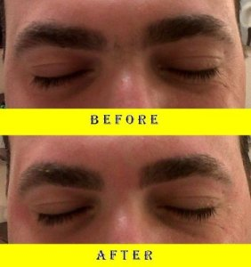 male eyebrow waxing